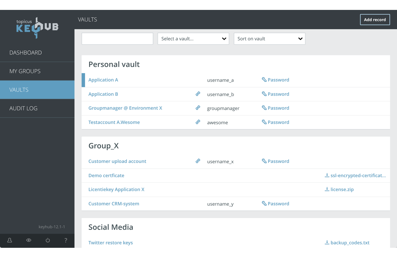 Topicus KeyHub Password Manager